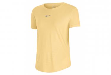 Camiseta Nike Dri Fit Run Manga Corta Amarillo Mujer S