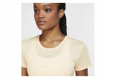 Maillot manches courtes Nike Dri-Fit Run Jaune Femme