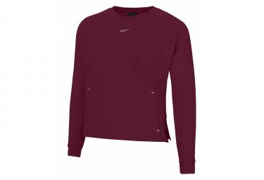 Sudadera Nike Pro Luxe Roja Mujer S