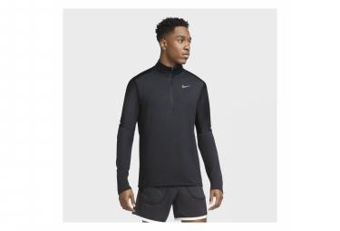 Maillot Manches Longues 1/2 Zip Nike Dri-Fit Element Noir