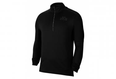 Maillot manches longues 1/2 Zip Nike Element Run Division Noir Homme
