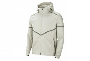 Veste coupe-vent déperlant Nike Flash Run Division Blanc Homme