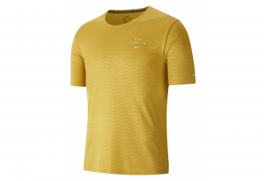 Nike Miler Run Division Camiseta De Manga Corta Amarillo Hombre M