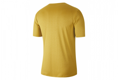 Maillot manches courtes Nike Miler Run Division Jaune Homme