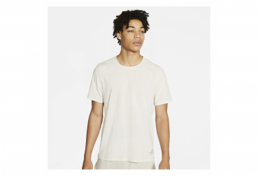 Maillot manches courtes Nike Run Division Adapt Blanc Homme