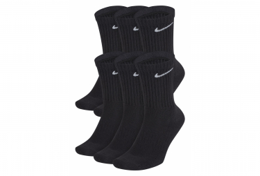 Socks (x6) Nike Everyday Cushioned Black Unisex