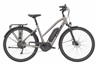 Bicicleta Ciudad Mujer Trek Verve+ 2 Stagger Gris / Noir