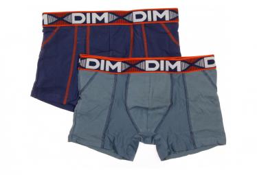 Lot de 2 boxers gris violets Dim 3D Flex