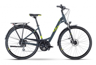 Bicicleta Cicloturística Mujer R Raymon TourRay 3.0 Wave Gris / Vert