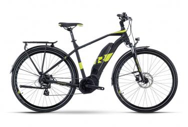 Bicicleta Híbrida Eléctrica R Raymon TourRay E 1.0 700 Noir / Vert