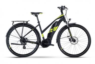 Bicicleta Híbrida Eléctrica R Raymon TourRay E 1.0 Lady 700 Noir / Vert