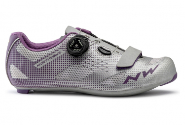 Scarpe da strada Northwave Storm Grey / Purple da donna
