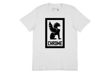 Camiseta Chrome Large Lock Up Blanco   Negro M