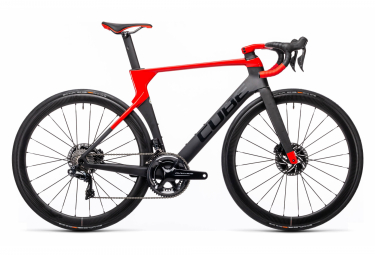 Cube Litening C:68X SL Road Bike Shimano Dura-Ace Di2 11S 700 mm Carbon Grey Red 2021