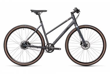 Cube Hyde Race Trapeze Fitness City Bike Shimano Alfine 8S Gürtel 700 mm Iridium Grey 2021