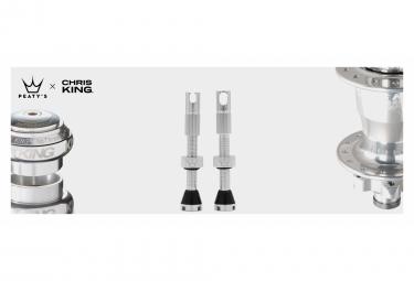 Valves Tubeless Peaty's x Chris King MK2 60mm Argent