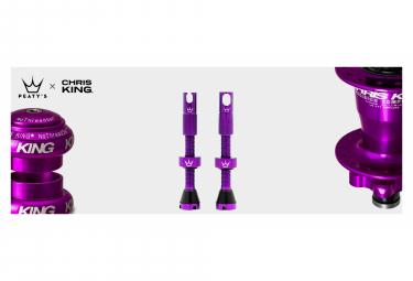 Valves Tubeless Peaty's x Chris King MK2 60mm Violet