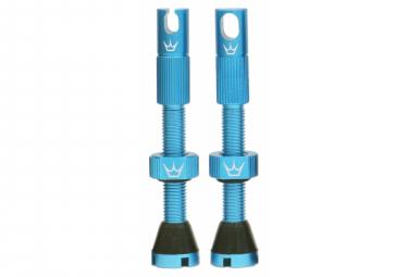 Valves Tubeless Peaty's x Chris King MK2 60mm Turquoise