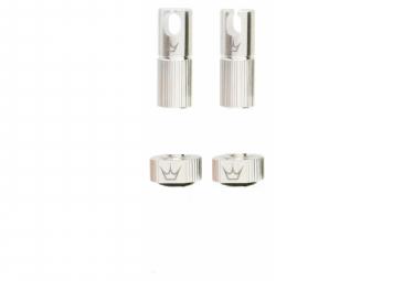 Image of Accessoires de valve tubeless peaty s x chris king mk2 argent