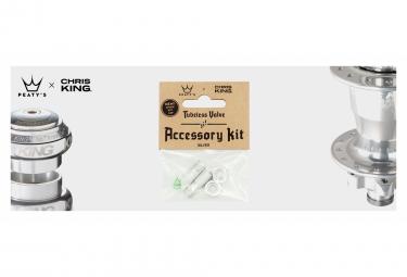 Accessoires de Valve Tubeless Peaty's x Chris King (MK2) Argent