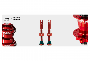 Valves Tubeless Peaty's x Chris King MK2 42mm Rouge
