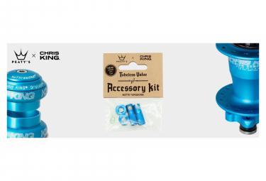 Accessoires de Valve Tubeless Peaty's x Chris King (MK2) Turquoise