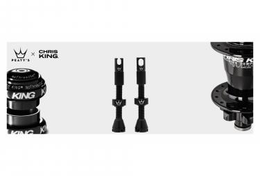 Valves Tubeless Peaty's x Chris King MK2 60mm Noir