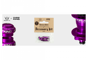 Accessoires de Valve Tubeless Peaty's x Chris King (MK2) Violet
