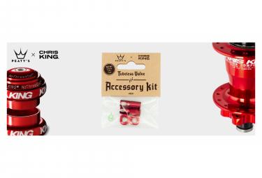 Accessoires de Valve Tubeless Peaty's x Chris King (MK2) Rouge