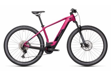 VTT Électrique Semi-Rigide Cube Reaction Hybrid Race 625 Shimano Deore / XT 12V 625 Wh 29'' Violet Berry 2021