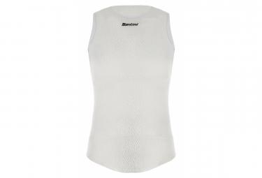 Camiseta Santini Alpha Sin Mangas Blanca Xl Xxl