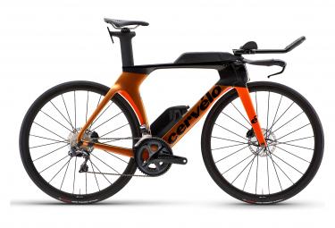 Cervélo P5 Scheibe Shimano Ultegra Di2 8050 11S Orange Chameleon 2021 Triathlon Bike