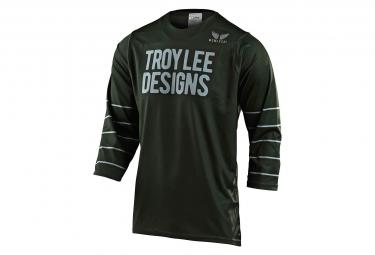 Maglia manica corta 3/4 di Troy Lee Designs Ruckus Pinstripe Verde / Argento