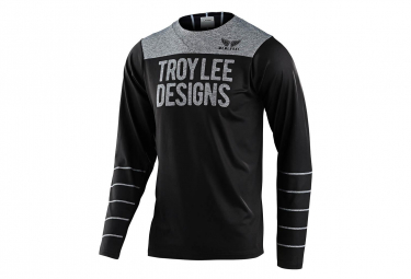 Troy Lee Designs Skyline Langarmtrikot Schwarz / Grau