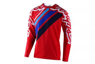 Maillot Manches Longues Troy Lee Designs Sprint Seca 2.0 Rouge / Bleu