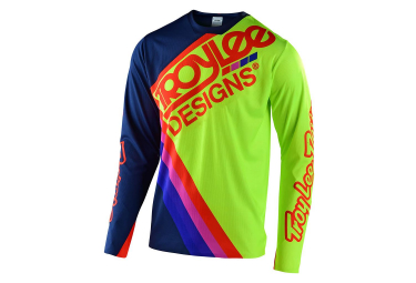 Troy Lee Designs Sprint Ultra Tilt Langarmtrikot Marineblau / Gelb