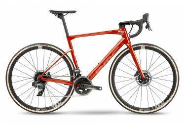 Bicicleta de carretera BMC Roadmachine One Sram Force eTap AXS 12S 700 mm Rojo Ámbar 2021