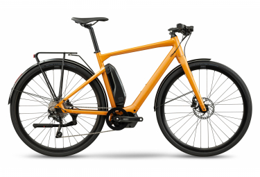 BMC Alpenchallenge AMP AL City Two Elektrische Fitness City Bike Shimano Deore 10S 504 Wh 700 mm Ockergelb 2021