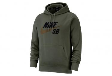 Sweat à capuche Nike SB Icon CARGO Khaki / Marron Yukon