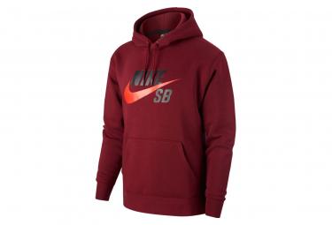 Sweat à capuche Nike SB Icon Rouge Foncé BEETROOT/CHILE RED