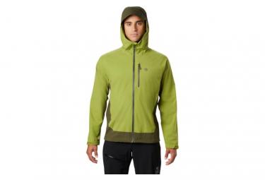 Chaqueta Impermeable Elastica Mountain Hardwear Verde Ozonic S