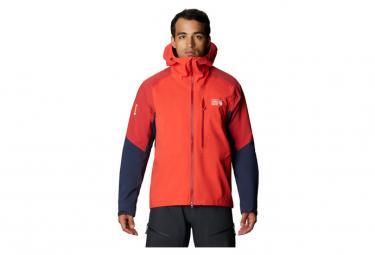 Giacca impermeabile Mountain Hardwear Exposure 2 GTX Pro Rossa