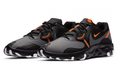 Chaussures Nike Renew Lucent 2 Noir / Iron Grey Total Orange Blanc
