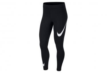 Nike Sportswear Leg-A-See Swoosh Strumpfhose Schwarz / Weiß