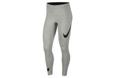 Mallas Nike Sportswear Leg A See Swoosh Gris Oscuro Jaspeado   Negro S
