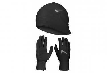 Nike Essential Running Beanie + Gloves Black Men