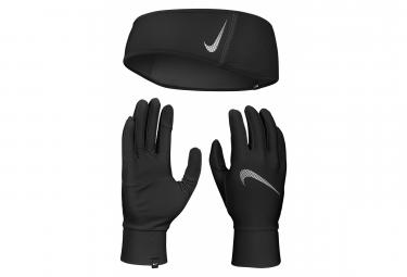 Bandeau + Gants Nike Essential Running Noir Homme