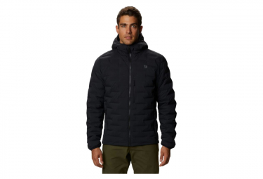 Giacca con cappuccio Mountain Hardwear Super DS Stretchdown Nera