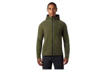 Chaqueta Softshell Mountain Hardwear Keele Hoody Negro Verde M