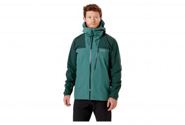 Chaqueta impermeable rab ladakh gtx verde hombre l